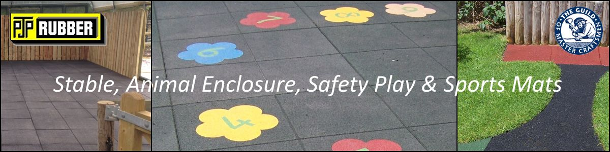 PJP Rubber Animal Enclosures, Safety Play & Sports Mats